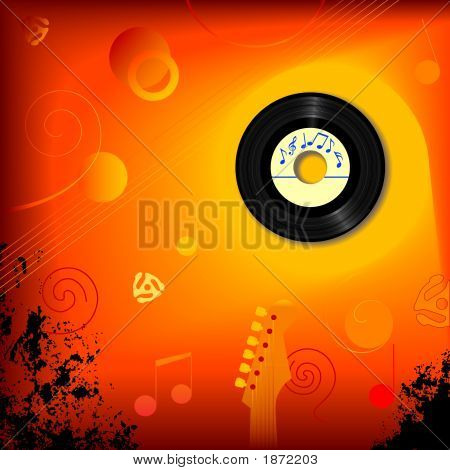 Retro 45 Rpm Music Background