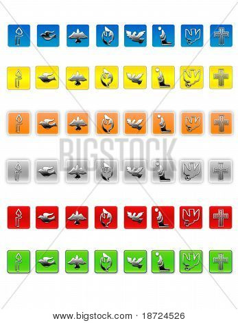 Christian web icons
