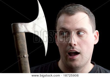 Man Getting The Axe