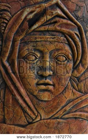 Ancient Medieval Woman Impression