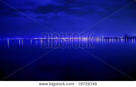 Blue night light  for background decoration