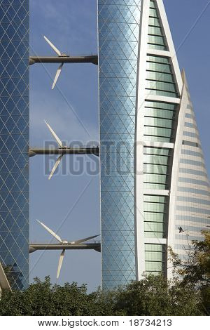 Bahrain World Trade Center - Wind-Turbine-detail