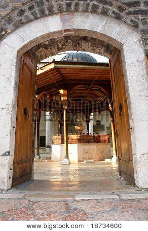 Sarajevo - Mosque entrance in bascarsija