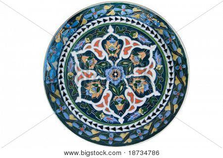 Türkische künstlerische Fliese-Platte - isoliert