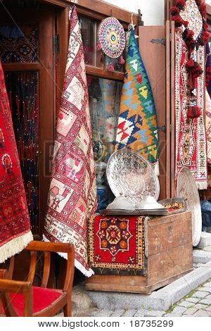 Souvenir shop in Ankara, Turkey