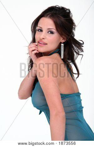Sexy Brunette Lingerie Model