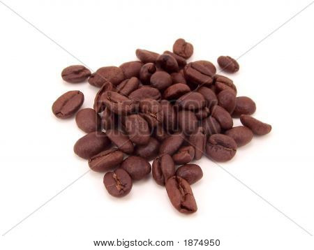 Small Pile Of Dark Brown Coffee Beans