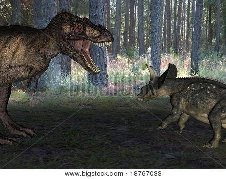 tyrannosaur attack