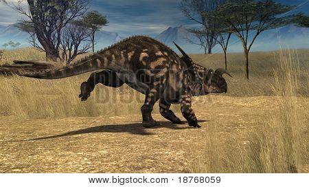 einiosaur in savanna