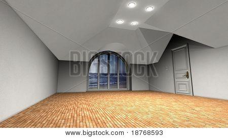 epmty room interior