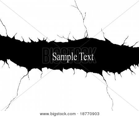 vector illustration of crack background