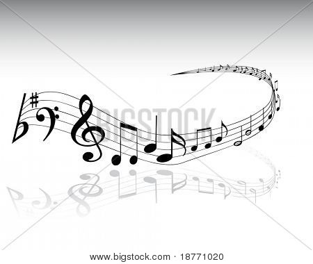 vector illustration of musical notes background