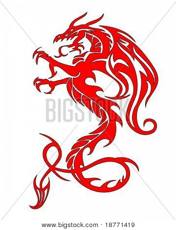 vector illustration of mythical dragon