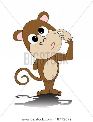illustration of a dorky monkey