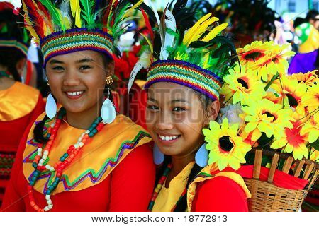 MANILA, PHILIPPINES - APRIL 24: Aliwan Festival, a yearly parade of cultural festivals that could be found in the country, this year's main event was held on April 24, 2010 Manila, Philippines.
