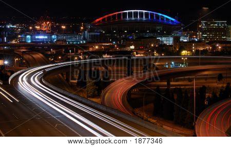 Night View Of The Stadium