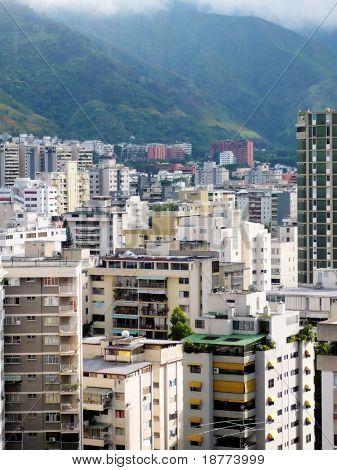 Aerial view on buildings in Caracas - Venezuela