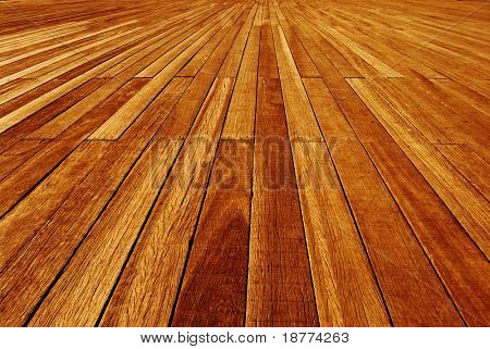 Wooden panels on a boardwalk