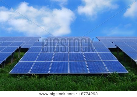 Field of solar energy panels