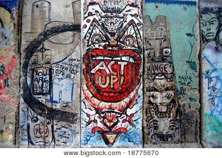 A piece of Berlin Wall in Newseum, Washington DC