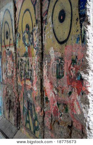 A piece of Berlin Wall in Newseum, Washington DC, vertical
