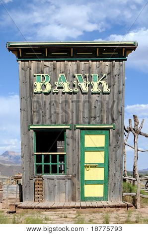 Bank building in the Wild West
