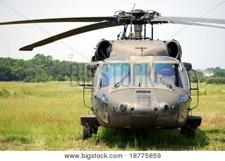 KILL DEVIL HILLS, NC - AUG 5:  Sikorsky UH-60 Black Hawk helicopter. Based at Fort Bragg, the helicopter visited Wright Brothers Nat. Mem. on Aug 5, 2008. Over 200 are in Iraq.