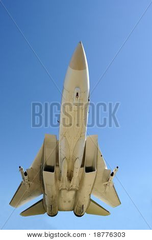 Closeup of fighter jet