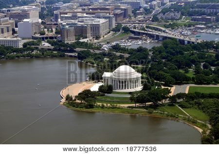 The Jefferson Memorial at the Tidal basin in Washington DC.