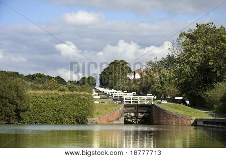 The Kennet and Avon Canal lock gates