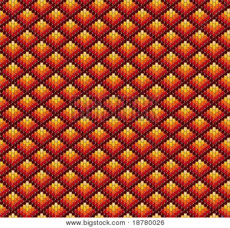 Beadwork background in earth tones.