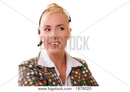 Smiling Receptionist
