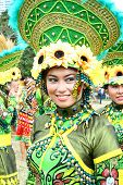 stock photo of filipina  - filipina girl participating in Philippine street parade - JPG