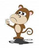 stock photo of dorky  - vector illustration of a dorky monkey - JPG