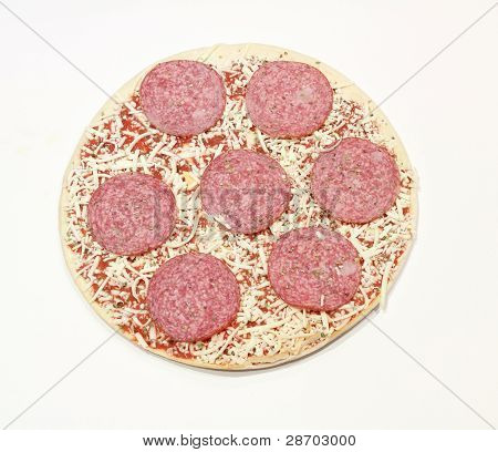 Frozen Pizza With Salami And Cheese