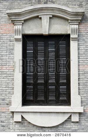 Window On Brick Building