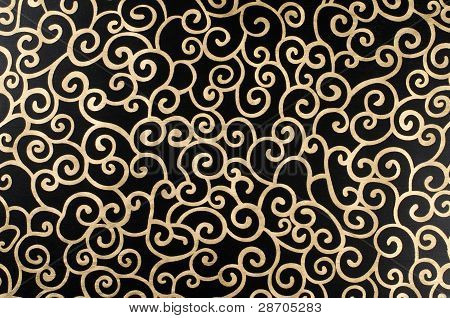 Golden Abstract Arabesque