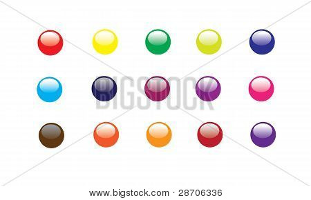 glossy buttons illustrator