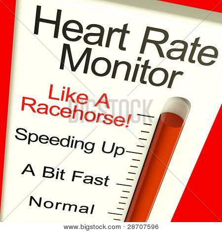 Heart Rate Monitor Very Fast Showing Quick Beats
