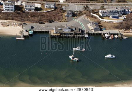 Cape Cod Fish Pier Aerial Photo