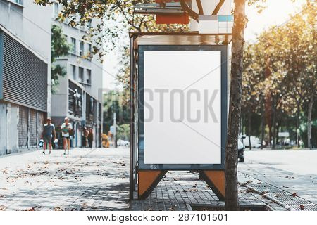 A City Bus Stop With