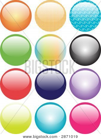 Aqua Orb Buttons