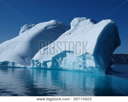 Iceberg, Greenland west coast in summer.