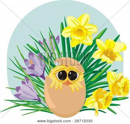 spring garden - happy easter