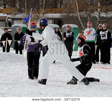 Finnish Championships 2010 of Yukigassen snowball fighting
