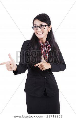 asiatische geschäftsfrau hände Geste