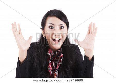 überrascht geschäftsfrau