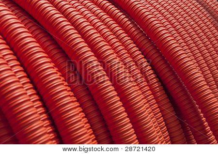 Orange Industrial Corrugated Conduit