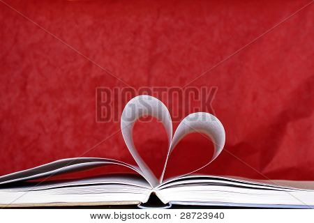 Heart Shape Of Book Pages