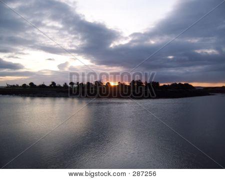 Sunrise Over Island